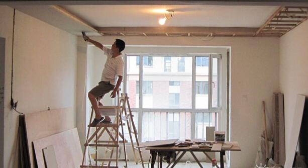首页 学装修 木工 轻钢龙骨石膏板吊顶施工工艺  2.