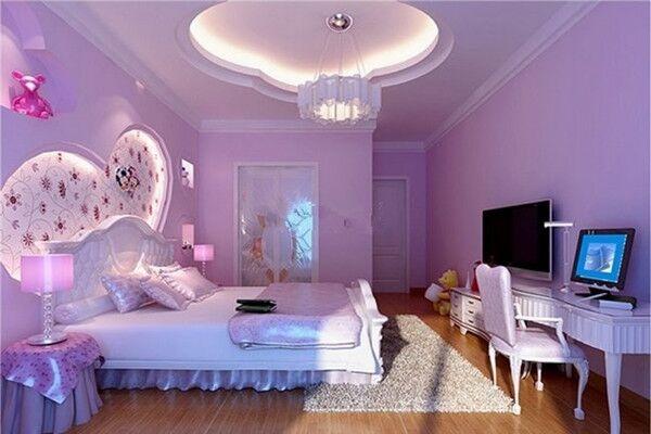 装修卧室的颜色,浅紫色的神秘效果